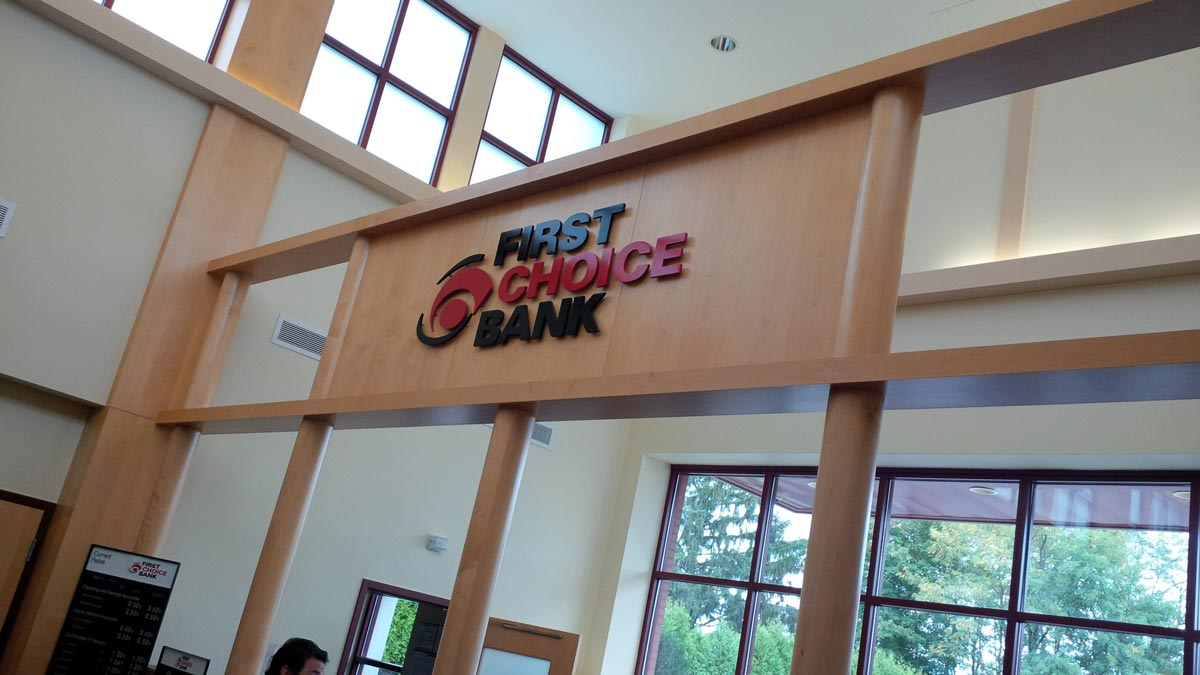 Interior Bank Sign