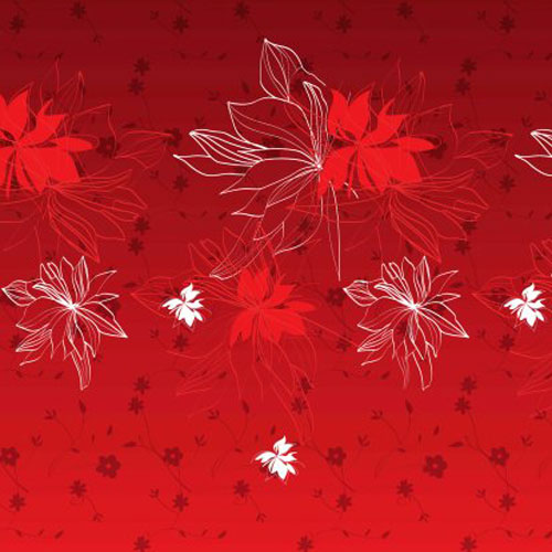 AW-0005 Asian Flowers - Red - Metal Laminates