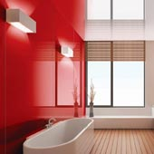 AW-0341 Rio Red - High Gloss Acrylic Wall Coverings